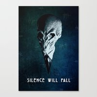 Doctor Who: The Silence Canvas Print