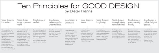 Ten principles for Good Design. By Dieter Rams Art Print