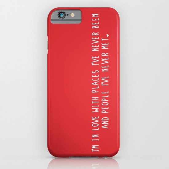 Places & People I've never met ♡ iPhone & iPod Case