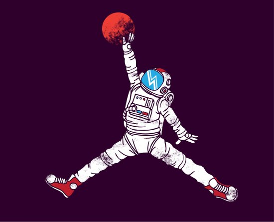 space dunk (purple ver.) Canvas Print