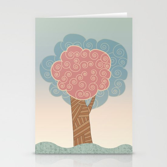 Tree Swirl Stationery Card