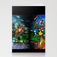 Nintendo Vs Sega Stationery Cards
