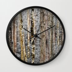 Camo In The Woods Wall Clock