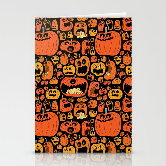 Pumpkin Pattern Stationery Card
