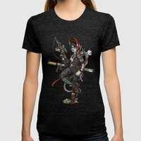 Wastelnader. Womens Fitted Tee Tri-Black SMALL
