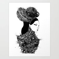 She`s a lady Art Print