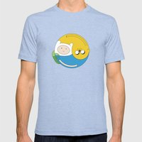 Adventurer Balance Mens Fitted Tee Tri-Blue SMALL