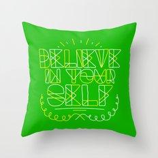 Believe in yourself Throw Pillow