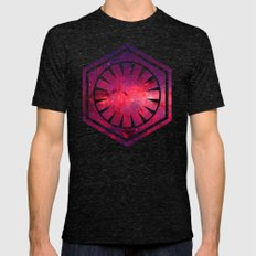 The First Order Cosmos on Black Mens Fitted Tee Tri-Black SMALL