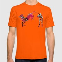 dogs Mens Fitted Tee Orange SMALL