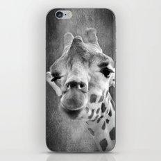 GIRAFFE - SCHWARZ/WEISS iPhone & iPod Skin