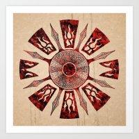 Dashása Redstone Mandal… Art Print