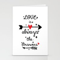 Love Is Always The Answe… Stationery Cards