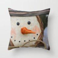 Snowman Fellow Throw Pillow