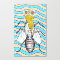Glamour Fly Canvas Print