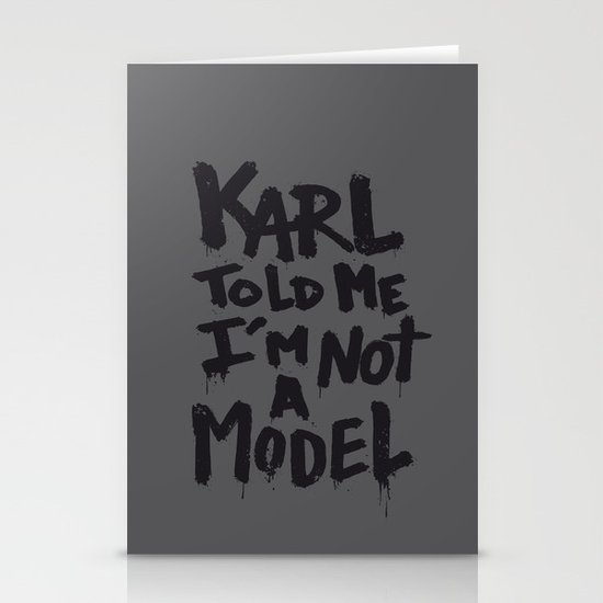 Karl told me... Stationery Card