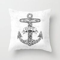 Hope Anchors Throw Pillow
