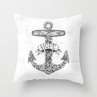 Hope Anchors Throw Pillow
