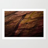 Red Rocks Close Up Art Print