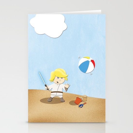 SW Kids - Luke at the Beach Stationery Card