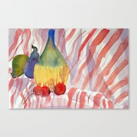 Fruit And Wine Canvas Print