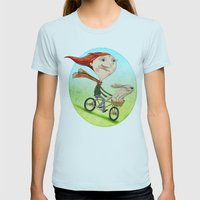 Bicicleta Womens Fitted Tee Light Blue SMALL