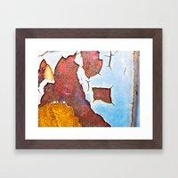 Cracked Gate Detail Framed Art Print