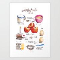 Illustrated Recipes: App… Art Print