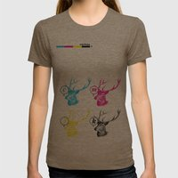 Unnatural Colors Womens Fitted Tee Tri-Coffee SMALL