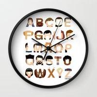 Star Trek Alphabet Wall Clock