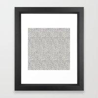 Hand Knit Grey Framed Art Print
