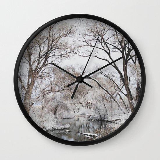 Winter Creek Canopy Wall Clock