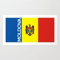 Flag Of Moldova Art Print