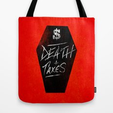 Death & Taxes Tote Bag