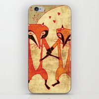 Foxes in love iPhone & iPod Skin