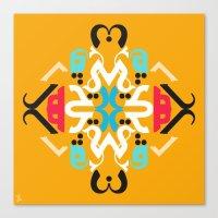 Orange Arabic Canvas Print