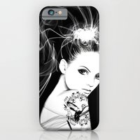iPhone & iPod Case featuring Smoke Girl by Vivian Lau