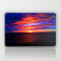 Sunset by the sea - Painting Style Laptop & iPad Skin
