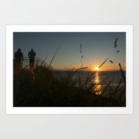 Sunset in view Art Print