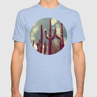 Space Cactus Mens Fitted Tee Tri-Blue SMALL