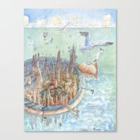 The concentric city Canvas Print