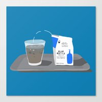 Blue Bottle Coffee Canvas Print