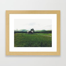 Farm in Haliburton Highlands Framed Art Print