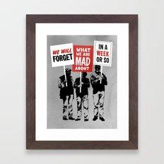 Semi-Protesting Framed Art Print