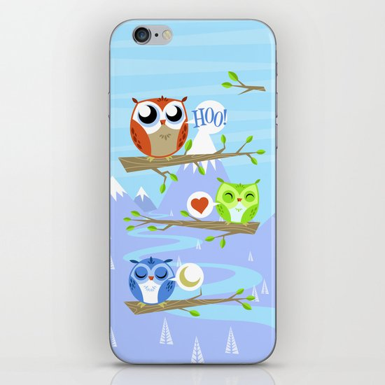 Owl Hangout With You iPhone & iPod Skin