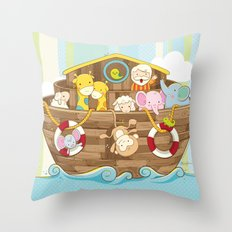 Baby Noah Ark Throw Pillow