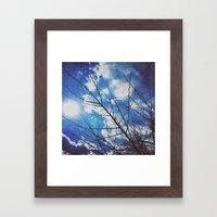 Thorns on blue Framed Art Print
