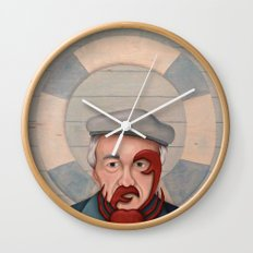 Crab Beard Wall Clock