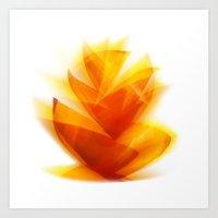 Sun Leaves Art Print