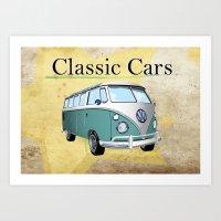 Classic Cars 2 Art Print